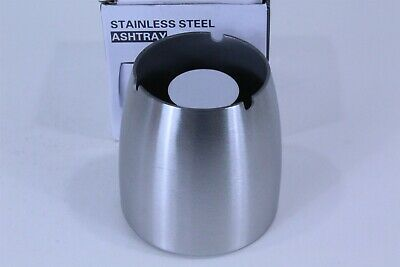£9.47 • Buy Stainless Steel Ashtray 3 Place With Anti Skid Bottom 4  Tall