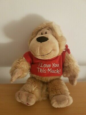 £9.99 • Buy KEEL TOYS Cute Little Monkey Soft Plush Toy Red Top I LOVE YOU THIS MUCH  8.5