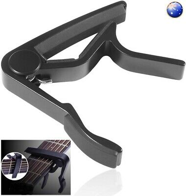 AU4.95 • Buy Electric Guitar Capo Clamp Acoustic Banjo Uke Ukulele Mandolin Spring Trigger AU