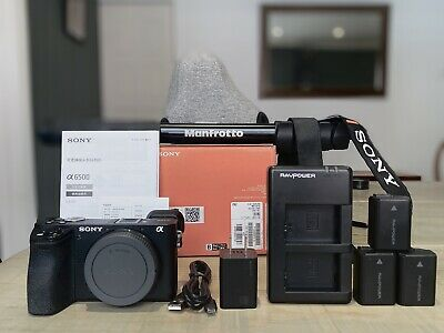 $ CDN755 • Buy Sony A6500 Mirrorless Camera Bundle: W/case, 3x Batteries, Manfrotto Mono + More