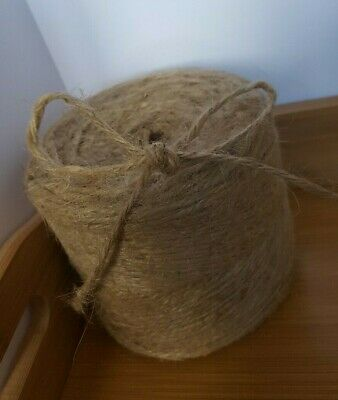 10-250M 3ply Jute Twine Rustic Garden String Brown Craft Hessian Natural Wrap • 0.99£