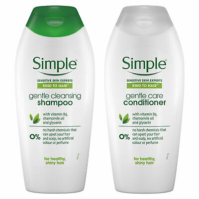 £12.99 • Buy Simple Kind To Hair Gentle Care Shampoo Or Conditioner, 3 Or 6 Packs Of 400ml