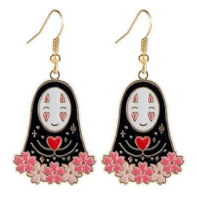 £3.99 • Buy No Face Charm Earrings Gold Plated Studs In Gift Bag Japanese Anime Kaonashi