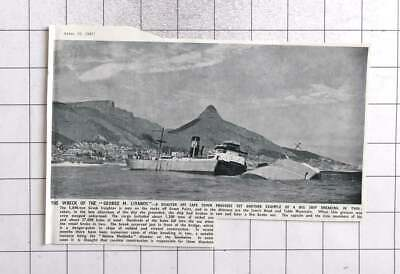 $ CDN10.34 • Buy 1947 Disaster Off Cape Town, Wreck Of The George M Livanos