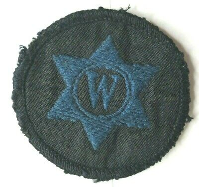 1950's WRNS Womens Royal Naval Service Writer Badge Embroidered Cotton • 12£