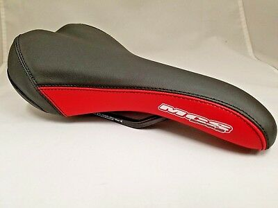 $22.95 • Buy Mcs Bmx Expert Railed Saddle Seat Black/red