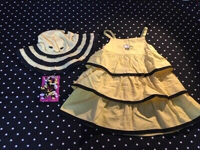 $58.50 • Buy Gymboree Bee Chic Dress Hat Hair 18-24 18 24 Set Lot Outfit EUC Bumble Bee