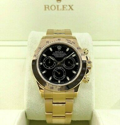 $ CDN36656.53 • Buy Rolex Cosmograph Daytona 40mm 18K Yellow Gold Watch Ref 116528 Y Serial 2002