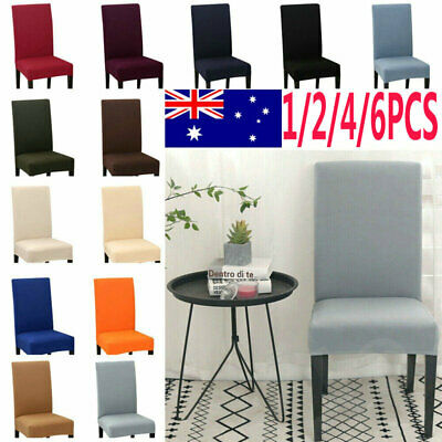 AU16.99 • Buy 4/6PCS Dining Chair Covers Spandex Slip Cover Stretch Wedding Banquet Party  AU