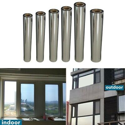 New Window One Way Mirror Film Reflective Heat UV Protect Office Home • 5.99£