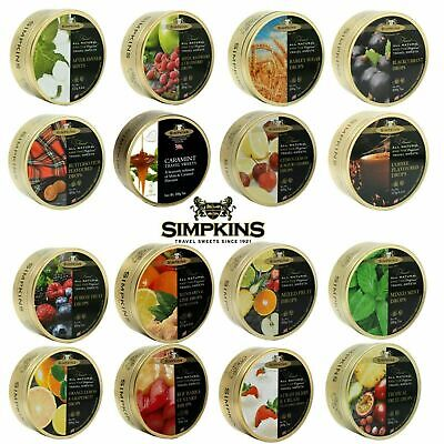 3x Simpkins Travel Sweets 200g Tin  Choose From 15 Great Flavours To Choose From • 7.79£
