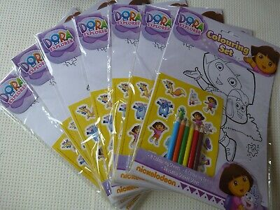 7 Dora The Explorer Colouring Sets Excellent Party Bag Gifts • 3£