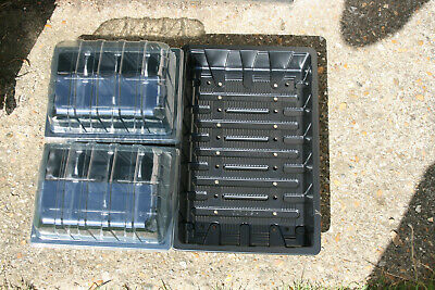 24 CELL PLANT SEED PROPAGATOR 2 X 12 CELL ROOT TRAINERS & LIDS, 1 X HD SEED TRAY • 9.99£