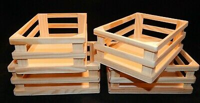 $15 • Buy Lot Of 4 Wooden Wood Crates/Boxes Arts Crafts Pinterest A8