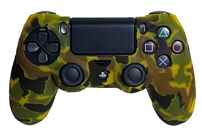AU9.90 • Buy Silicone Cover For PS4 Controller Case Skin - Yellow Camo