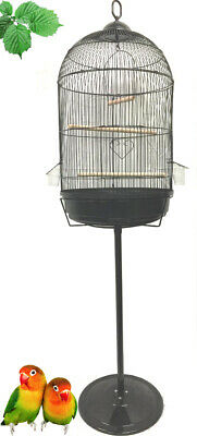 $66.45 • Buy Round Dome Bird Flight Cage With Stand For Finches LoveBird Budgies Canaries