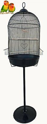 $66.45 • Buy Round Dome Bird Flight Cage W/Stand For Small LoveBirds Budgies Canaries Aviary