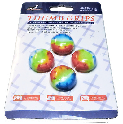 AU7.90 • Buy 4 X Thumb Grips For PS4 PS5 XBOX ONE Xbox Series X Toggle Cover Caps - Rainbow