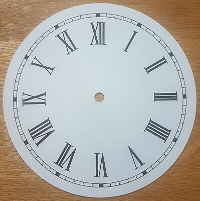 £11.95 • Buy NEW - 8 Inch Clock Dial Face - Off White Antique Finish 203mm Roman Num - DL23