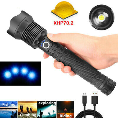 AU24.99 • Buy 90000LM LED USB Rechargeable Powerful Flashlight Zoomable Torch XHP70.2 XPE-R3