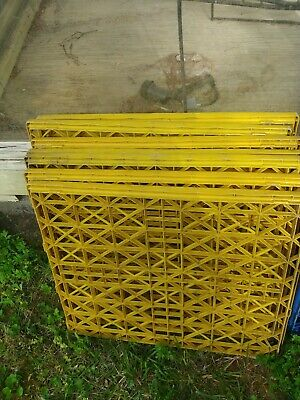$25 • Buy Plastic Pallets, Used, All Yellow, Lot Of 7 Approx 21 X 24 LOCAL PICKUP ONLY