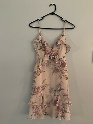 AU15 • Buy FOREVER NEW Ladies Dusty Pink Floral Dress Size 6