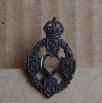 WW2 REME Royal Electrical & Mechanical Engineers Officers Collar Badge   • 12.51£