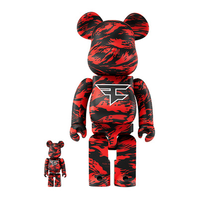 $369 • Buy BE@RBRICK FaZe Clan 400% & 100% Bearbrick - IN HAND