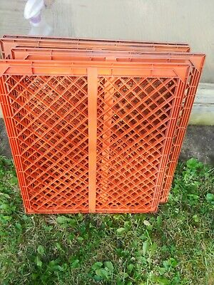 $18 • Buy Plastic Pallets, Lot Of 4, Used, Orange, Approx 21x24  LOCAL PICKUP ONLY 20175