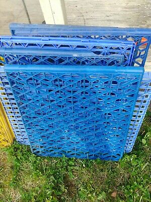 $15 • Buy Blue Plastic Pallets, Lot Of 6, Two Different Sizes, Used LOCAL PICKUP ONLY