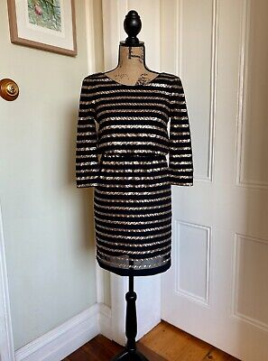 AU20 • Buy Forever New Women's Size 6 Black/Gold Sequin Party Dress