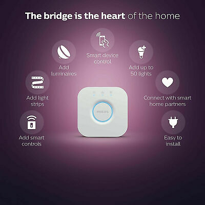 AU49 • Buy Philips Hue Smart Bridge V2 Light LED Home House Table Desk Study Wifi RGB White