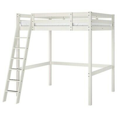 IKEA STORA Double Wooden Loft Bed Frame (140x200) • 120£