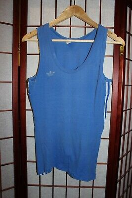 Vintage Adidas 70's- 80's Blue Vest West Germany , ALY • 30£