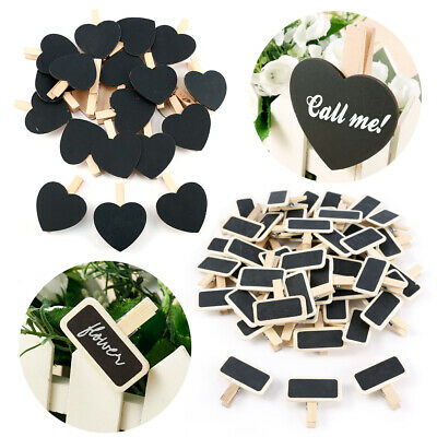 £7.14 • Buy Chalkboard Pegs Message Board Sign Home Wedding Table Place Names Pick Shape/QTY