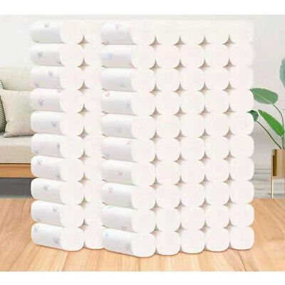 AU31.99 • Buy 50 Rolls Toilet Paper White Soft Roll Thickened Household 5 Ply Print Bathroom