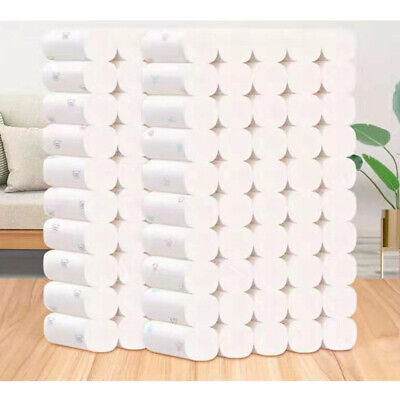 AU35.99 • Buy 50 Rolls Toilet Paper White Soft Roll Thickened Household 5 Ply Print Bathroom