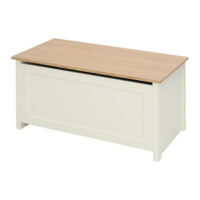 Large Wooden Ottoman Storage Toy Blanket Box Window Bench Chest Trunk Footstool • 69.95£