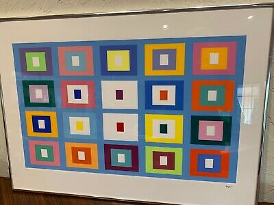 $800 • Buy Yaacov Agam Limited Edition 118/265 Pencil Signed Lithograph VISUALLY STRIKING