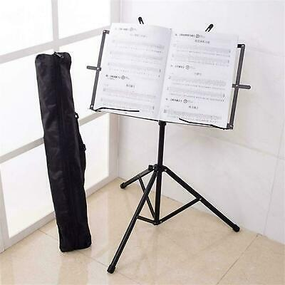 Adjustable Music Note Sheet Stand Holder Folding Foldable Metal Carry Case Bag • 7.99£