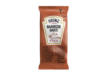 £7.25 • Buy Heinz BBQ Sauce Individual Sachets - Tasty Barbecue Portions - FREE P&P