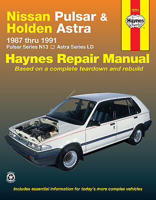 AU50.21 • Buy Nissan Pulsar N13 1987-1991/Holden Astra LD 1987-1989 Repair Manual