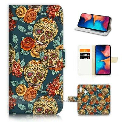 AU12.99 • Buy ( For Huawei Y9 Prime [2019])  Flip Case Cover AJ40267 Sugar Skull