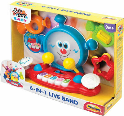£20.99 • Buy Music Activity Baby Toys 6 In 1 Baby Multi-purpose Learning Big Bass Drum Piano