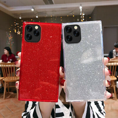 Bling 3D Soft TPU Square Phone Case Cover Shell For IPhone 11 7 8 Plus XS MAX XR • 3.99£