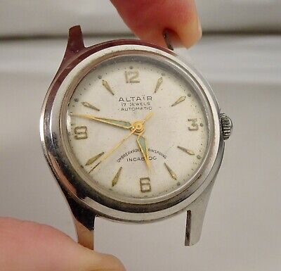 $ CDN28.68 • Buy Vintage Altair Automatic 17j Swiss Stainless Watch For Parts Or Repair - 59142