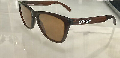 $54.99 • Buy RARE Vintage OAKLEY FROGSKINS Sunglasses In Root Beer Bronze 03-116 Made In USA