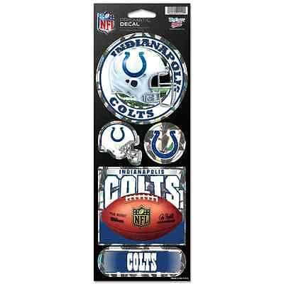$8.50 • Buy Indianapolis Colts Official 10.5  X 4  Prismatic Decal Set New Wincraft 👀🏈