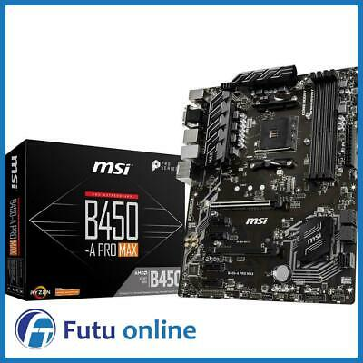 AU230 • Buy MSI B450-A PRO MAX AMD AM4 ATX Gaming Motherboard DDR4 M.2 USB 3.2 HDMI DVI-D