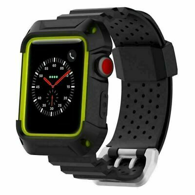 $ CDN5.70 • Buy Rugged Protective Armor Case + TPE Watch Band For IWatch Series 3 2 1 42mm/38mm
